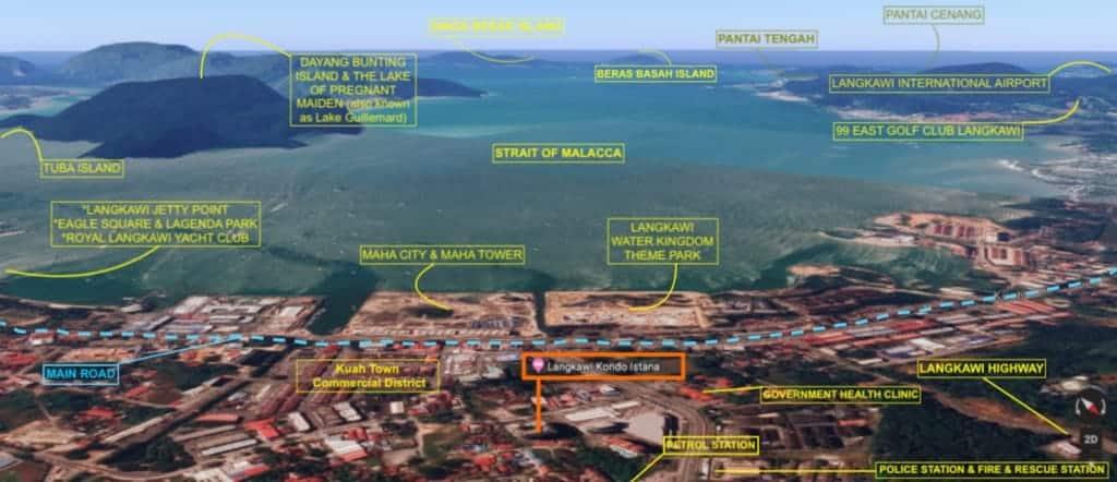 Location of 3 bedroom Kondo Istana Langkawi for Sale | Langkawi Real Estate