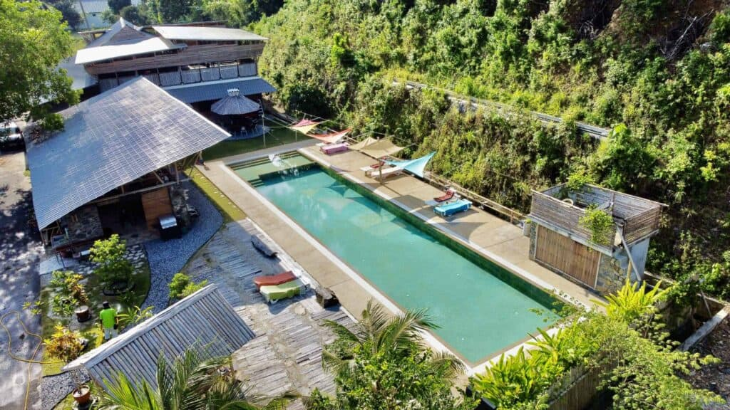 Eagle View of Bamboo Cottage